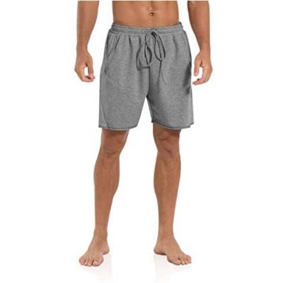 """Agnes Urban Mens 5.7"""" Shorts Athletic Running Workout Casual Lounge Elastic Waist Active Gym Cotton Terry Shorts with Pockets"""