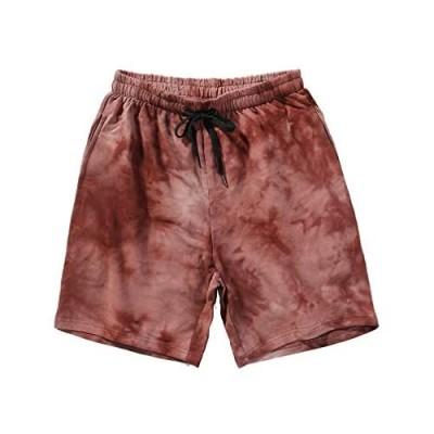 ASLIMAN Men's Shorts Casual Drawstring Elastic Waist Summer Short Pants with Pockets