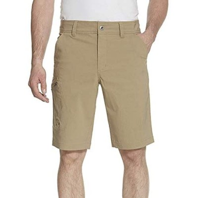 Gerry Mens Stretch Cargo 5 Pocket Shorts Venture Flat Front Woven Hiking Shorts for Men