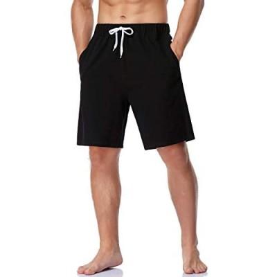 Kedofe Linen Shorts Men Casual Elastic Waist Summer Beach Drawstring Shorts with Pockets
