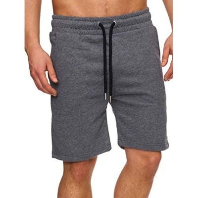 MensElasticWaistDrawstring Casual Gym Joggers Short Pants Lounge Pajamas Summer Sweat Shorts withPockets