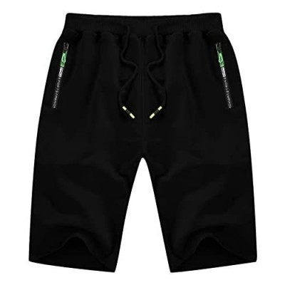 YTD Men's Shorts Casual Classic Fit Drawstring Summer Beach Shorts with Elastic Waist and Pockets